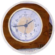 Time Will Tell Round Beach Towel