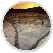 Timeless Death Valley Round Beach Towel