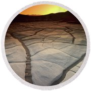 Timeless Death Valley Round Beach Towel