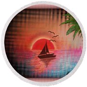 Timeout Vision Round Beach Towel