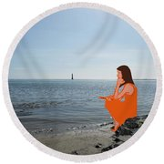 Tin Whistle 3 Round Beach Towel by Patrick J Murphy