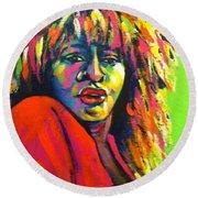 Tina Turner Round Beach Towel