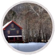 Tinglers Mill Paint Bank Round Beach Towel