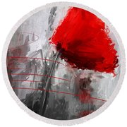 Tint Of Red Round Beach Towel