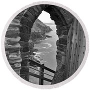 Tintagel Portal 1 Round Beach Towel