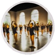 Tiny Dancers Round Beach Towel
