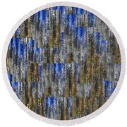 Tiny Ripples Background Round Beach Towel