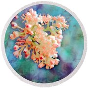Tiny Spring Tree Blooms - Digital Color Change And Paint Round Beach Towel