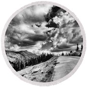 Tioga Pass Round Beach Towel