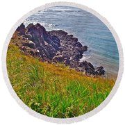 Tip Of Cape D'or-ns Round Beach Towel