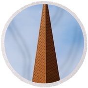 Tip Of The Tall Steeple Round Beach Towel