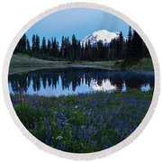 Tipsoo Reflection Tranquility Round Beach Towel