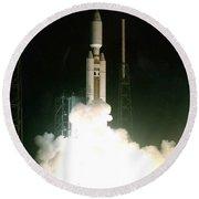Titan Iv-b Launch Round Beach Towel