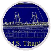 Titanic By Design Round Beach Towel