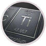 Titanium Chemical Element Round Beach Towel