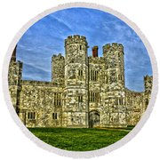 Titchfield Abbey Hdr Round Beach Towel