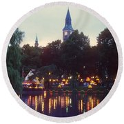 Tivoli Night Lights Round Beach Towel