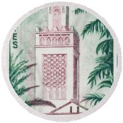 Tlemcen Great Mosque Round Beach Towel