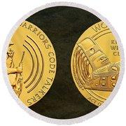 Tlingit Tribe Code Talkers Bronze Medal Art Round Beach Towel