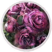 To Be Loved - Mauve Rose Round Beach Towel