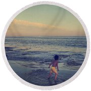 To Be Young Round Beach Towel