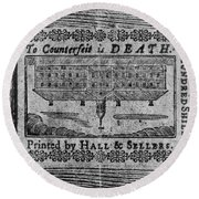 'to Counterfeit Is Death Round Beach Towel