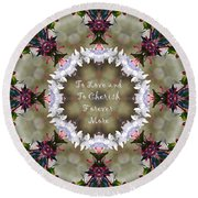 To Love And To Cherish Forever More Round Beach Towel