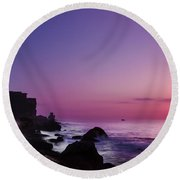 To Reach The Blue Hour Round Beach Towel