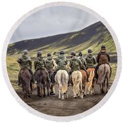 To Ride The Paths Of Legions Unknown Round Beach Towel
