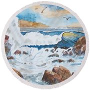 To Rough For Fishing Round Beach Towel