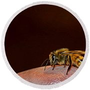 To Sting Or Not To Sting II Round Beach Towel