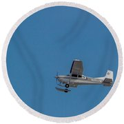 To The Glacier Round Beach Towel