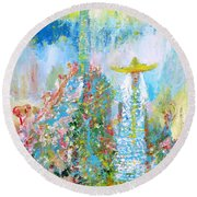 To The Lighthouse Round Beach Towel
