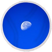 To The Moon And Back Round Beach Towel