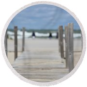 To The Ocean Round Beach Towel