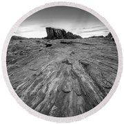 To The Rock Round Beach Towel
