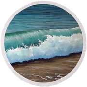 To The Shore Round Beach Towel
