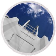 To The Top Round Beach Towel
