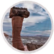Toad Stool Formations Round Beach Towel