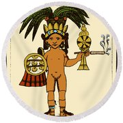 Tobacco In Aztec Ritual, Florentine Round Beach Towel by Science Source