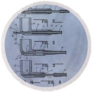 Tobacco Pipe Patent Round Beach Towel
