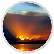 Today Is Forever Lost Tomorrow Round Beach Towel by Karen Wiles
