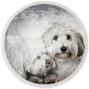 Together Round Beach Towel by Elena Elisseeva