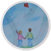 Together Flying Round Beach Towel