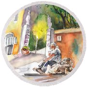 Together Old  In Italy 04 Round Beach Towel