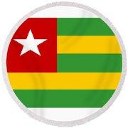 Togo Flag Round Beach Towel