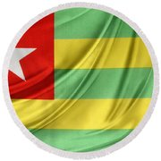 Togo Flag Round Beach Towel