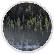 Toiga Lake Round Beach Towel