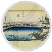 Tokaido - Yoshida Round Beach Towel