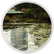 Tokyo Reflection Round Beach Towel